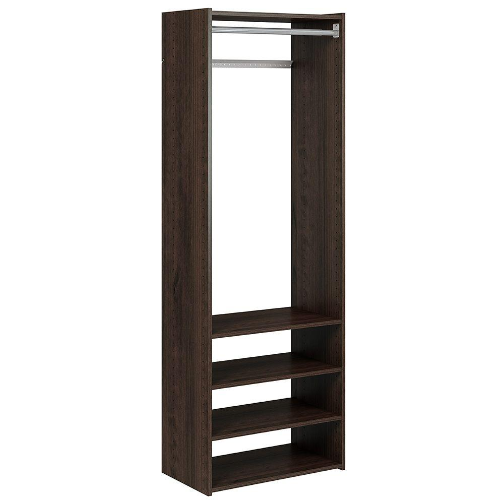 Martha Stewart Living 14 in. D x 24.125 W x 72 in. H Espresso Select Tower Laminate Closet System Kit