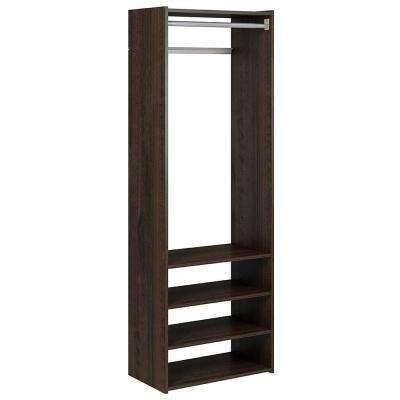 72 in. H x 24 in. W x 14 in. D Espresso Select Tower Kit