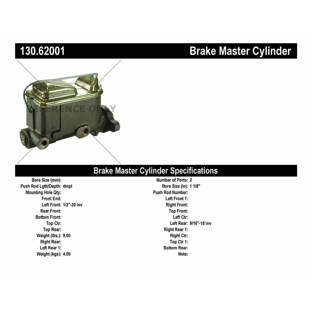 Centric Parts 130.33116 Premium Brake Master Cylinder