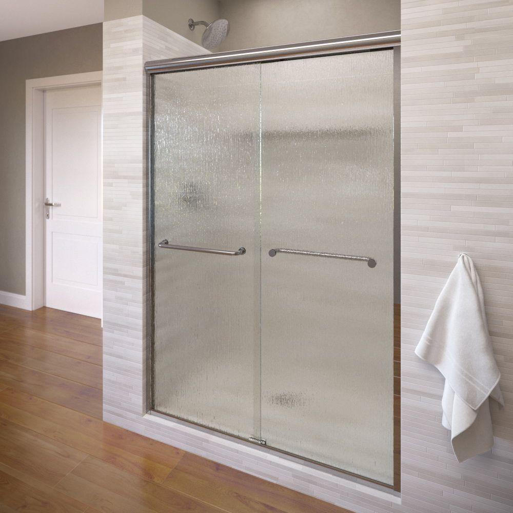 Basco - Chrome - Alcove Shower Doors - Shower Doors - The Home Depot