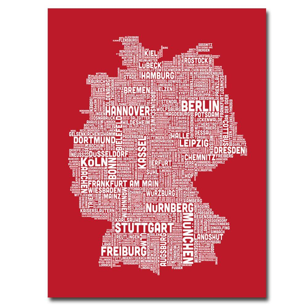 Trademark Fine Art 32 in. x 24 in. Germany City Map I Canvas Art