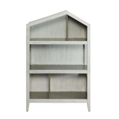 Doll Cottage Weathered White and Washed Gray Bookcase