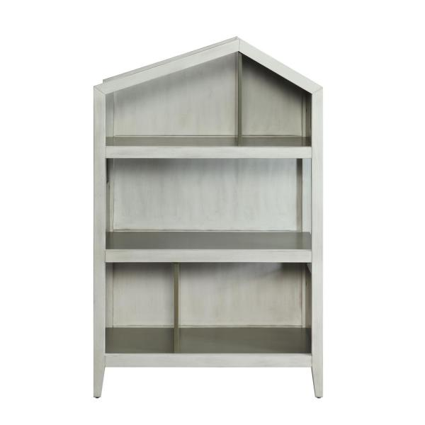 Acme Furniture Doll Cottage Weathered White and Washed Gray Bookcase 92561