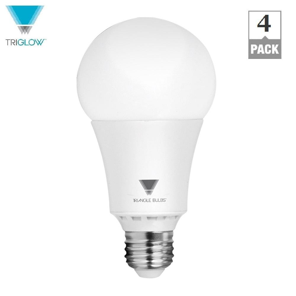 TriGlow 100-Watt Equivalent A21 Dimmable 1,600-Lumens LED Light Bulb ...