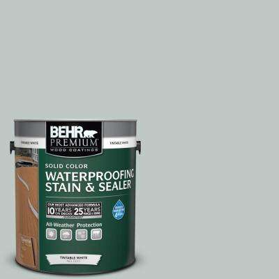 1 gal. #SC-365 Cape Cod Gray Solid Color Waterproofing Exterior Wood Stain and Sealer