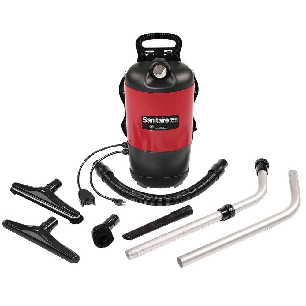 Sanitaire 11.5 Amp Backpack Vacuum, Reds/Pinks