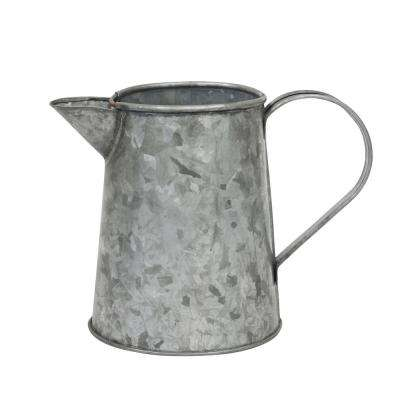 7 in. x 4 in. Antique Galvanized Metal Jug