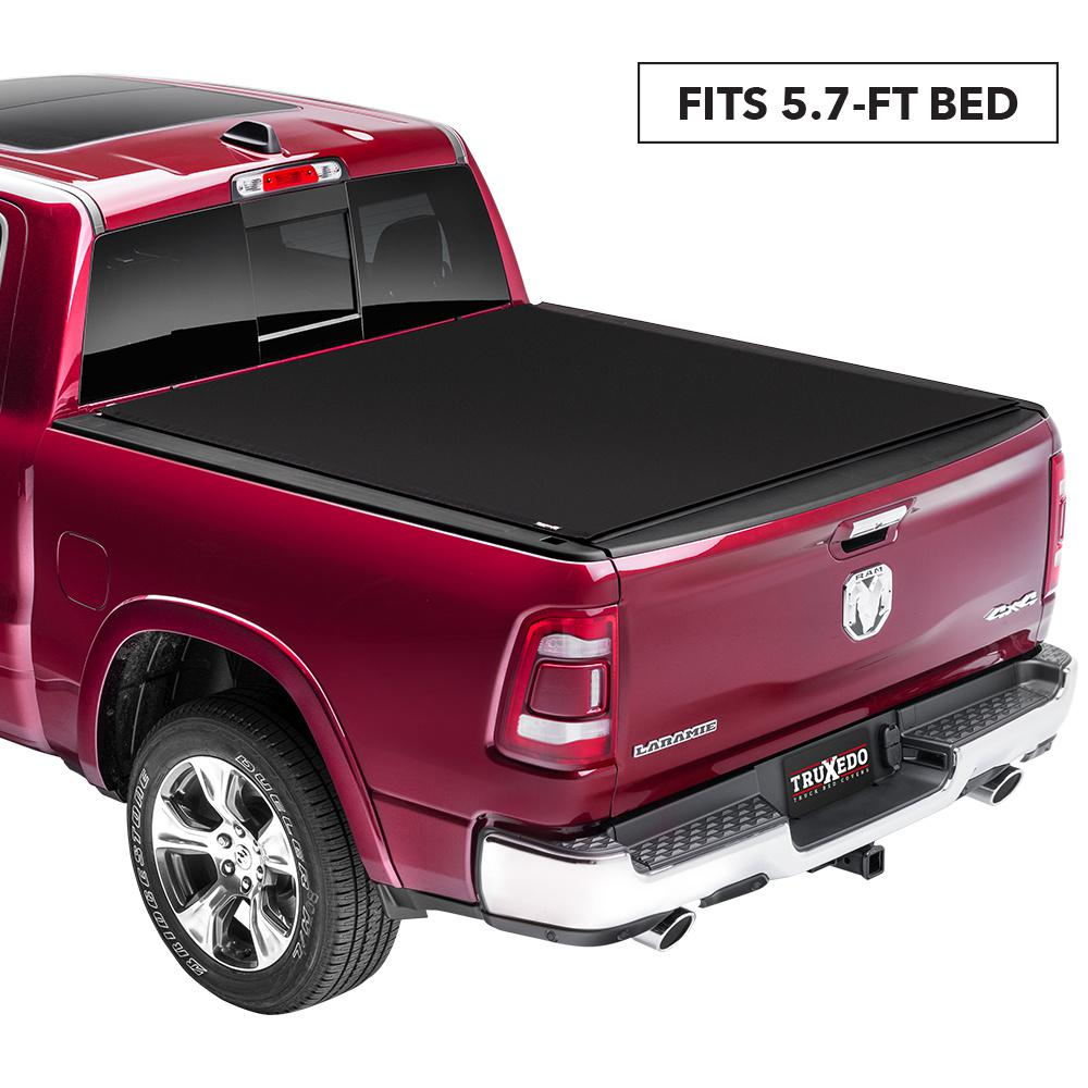 Truxedo Sentry Ct Tonneau Cover 09 18 19 Classic Ram 5 Ft 7 In Bed Without Rambox 1545916 The Home Depot