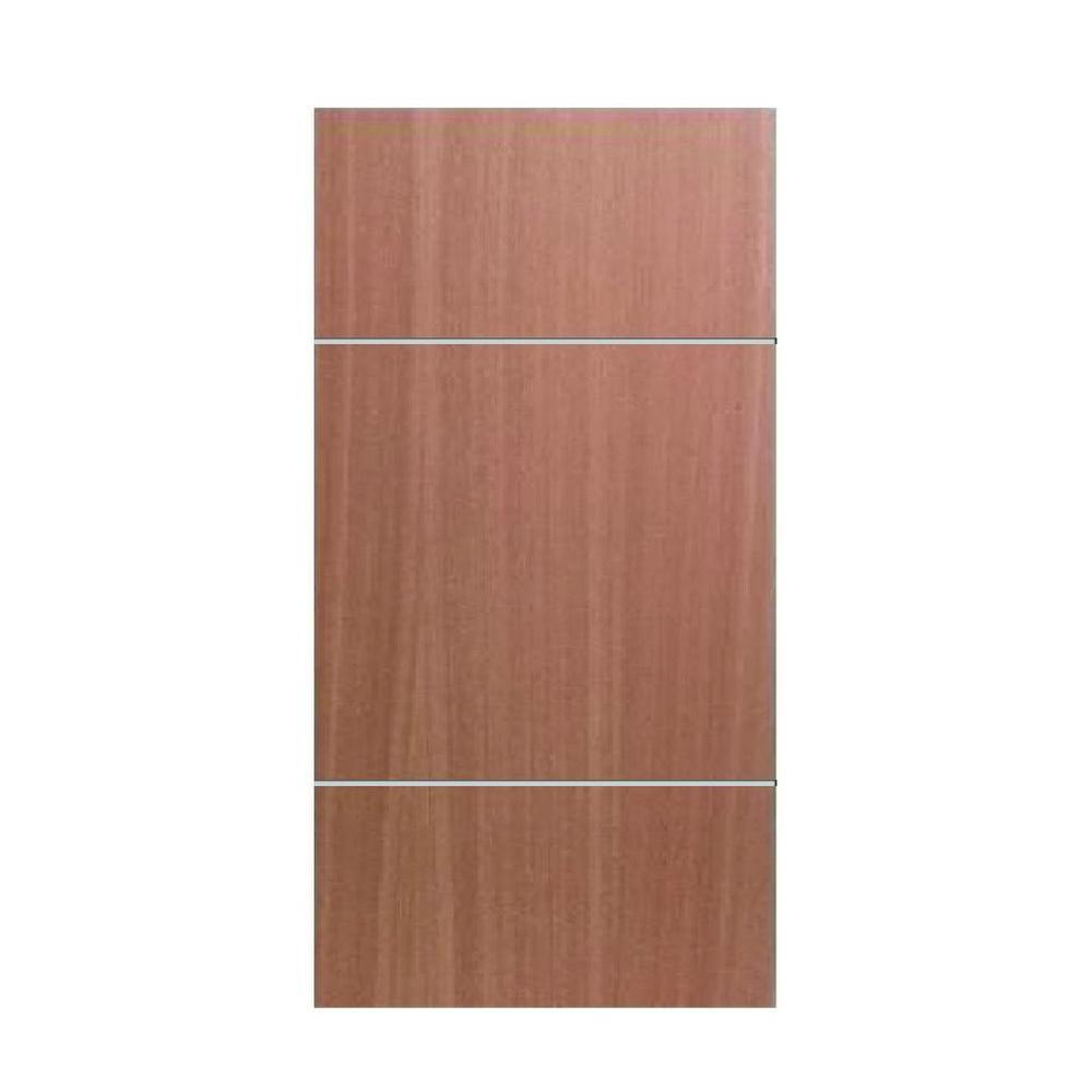 New Fashion 2 Horizontal Metal Strips Semi-  sc 1 st  Home Depot & GREENWOOD 30 in. x 80 in. New Fashion 2 Horizontal Metal Strips Semi ...