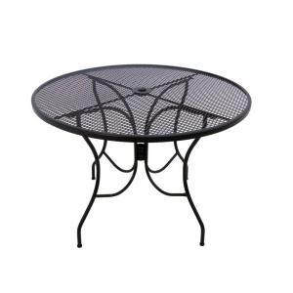 Arlington House Glenbrook 48 inch Black Round Patio Dining Table by Arlington House