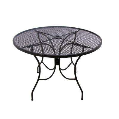 Glenbrook 48 in. Black Round Patio Dining Table