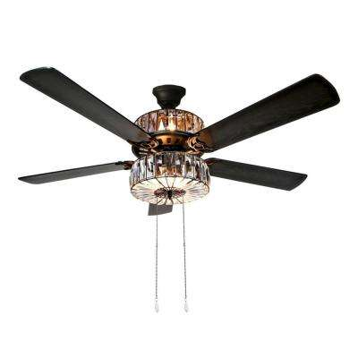Duchess 52 in. Clear Crystal LED Ceiling Fan With Light