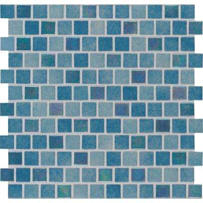 Carribean Reef 11.81 in. x 11.81 in. x 4 mm Glass Mesh-Mounted Mosaic Tile (19.4 sq. ft. / case)