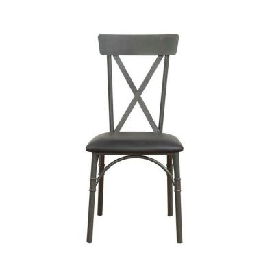 Amelia 2 Pcs. Black Polyurethane Side Chair