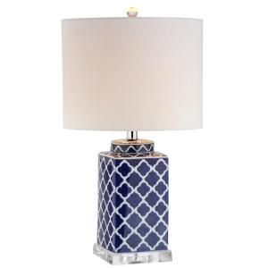 JONATHAN Y Clarke 23 inch H Blue/White Chinoiserie Table Lamp by JONATHAN Y