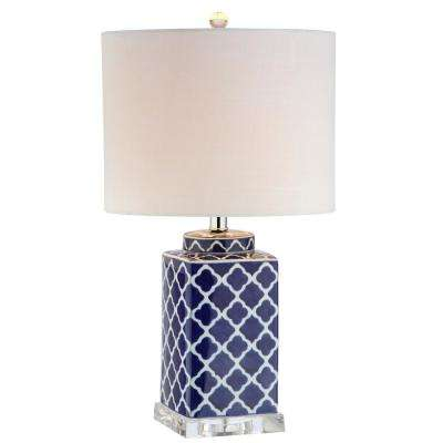 Clarke 23 in. H Blue/White Chinoiserie Table Lamp