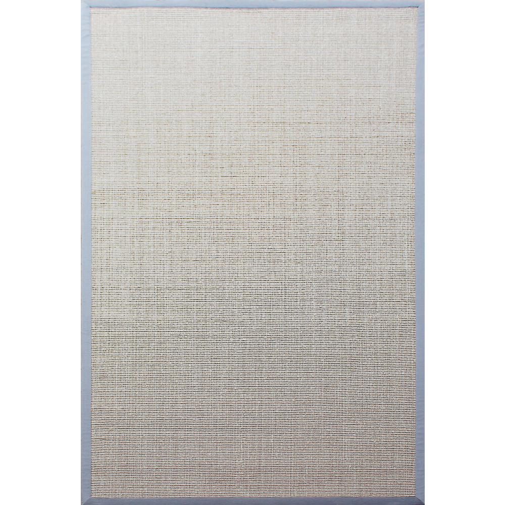 A1hc Sisal Boucle Beige Blue Border 8 Ft X 10 Indoor Area