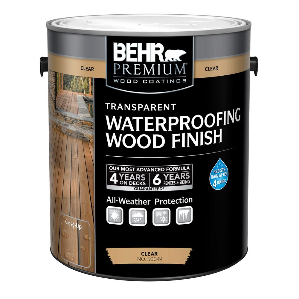 1 gal. Clear Transparent Waterproofing Exterior Wood Finish
