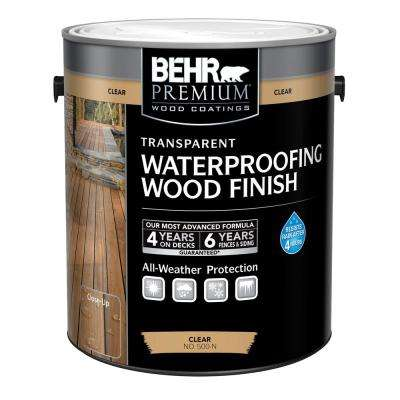 1 Gal. Clear Transparent Waterproofing Wood Finish