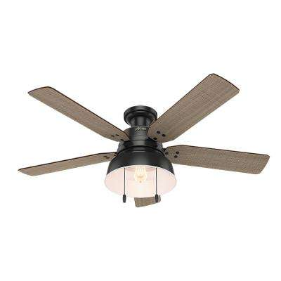 Mill Valley 52 in. LED Outdoor Low Profile Matte Black Ceiling Fan