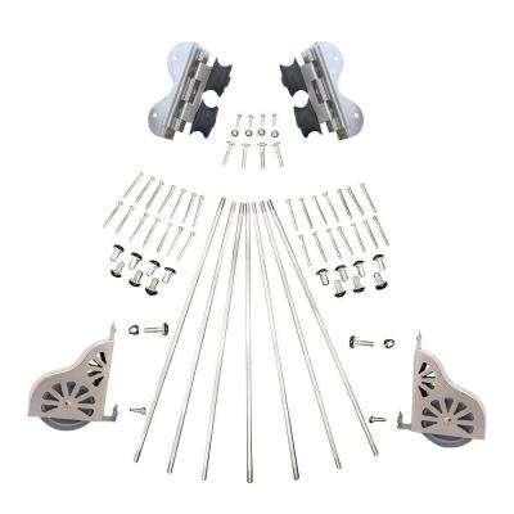 Satin Nickel Swivel Rolling Ladder Hardware Kit