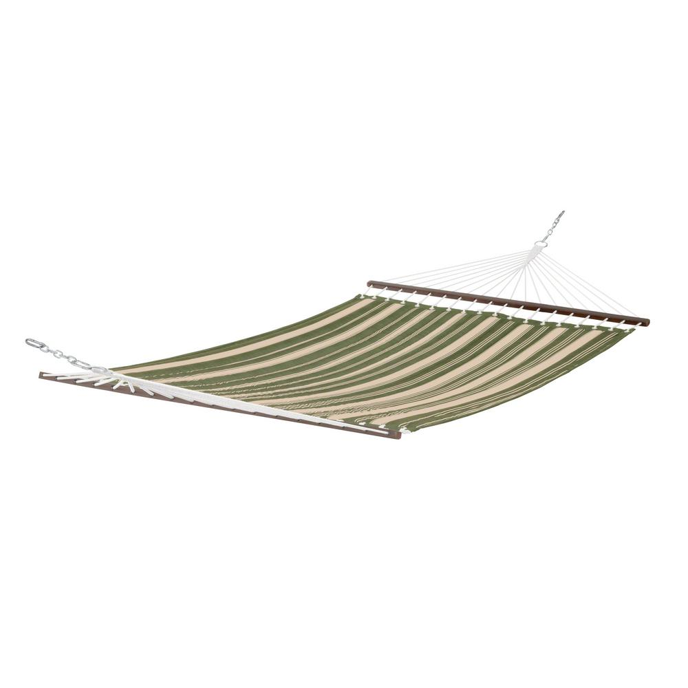 Montlake 11 ft. Quilted Hammock in Heather Fern Stripe