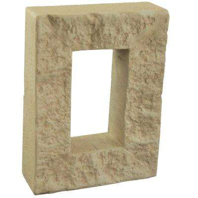 Rustic Lodge 7-7/8 in. x 6 in. x 1-7/8 in. Faux Outlet Cover
