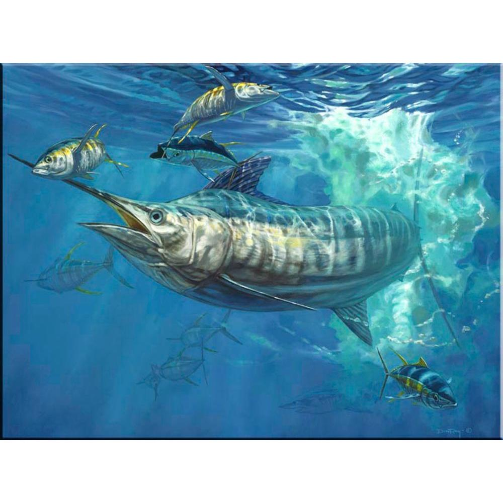 Marlin ceramic tiles columbialabelsfo the tile mural store blue and allisons 24 in x 18 in ceramic mural dailygadgetfo Images
