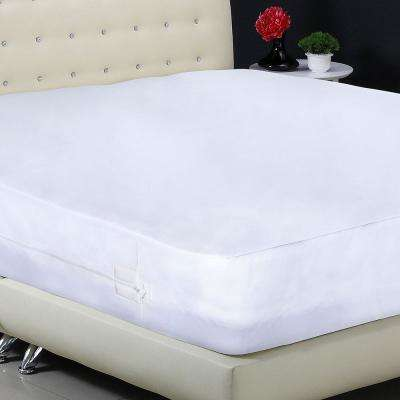 AllerZip Polyester Cal King Smooth Polyester Mattress Encasement