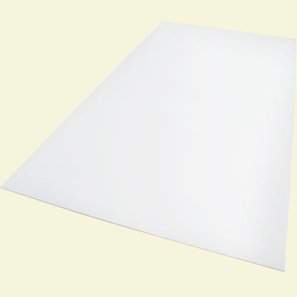 12 in. x 12 in. x 0.118 in. Foam PVC White