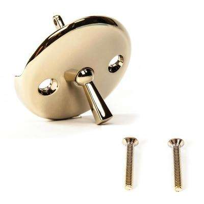 Bathtub Drain Trip Lever  Overflow Face Plate with Matching Screw for Waste and Overflow