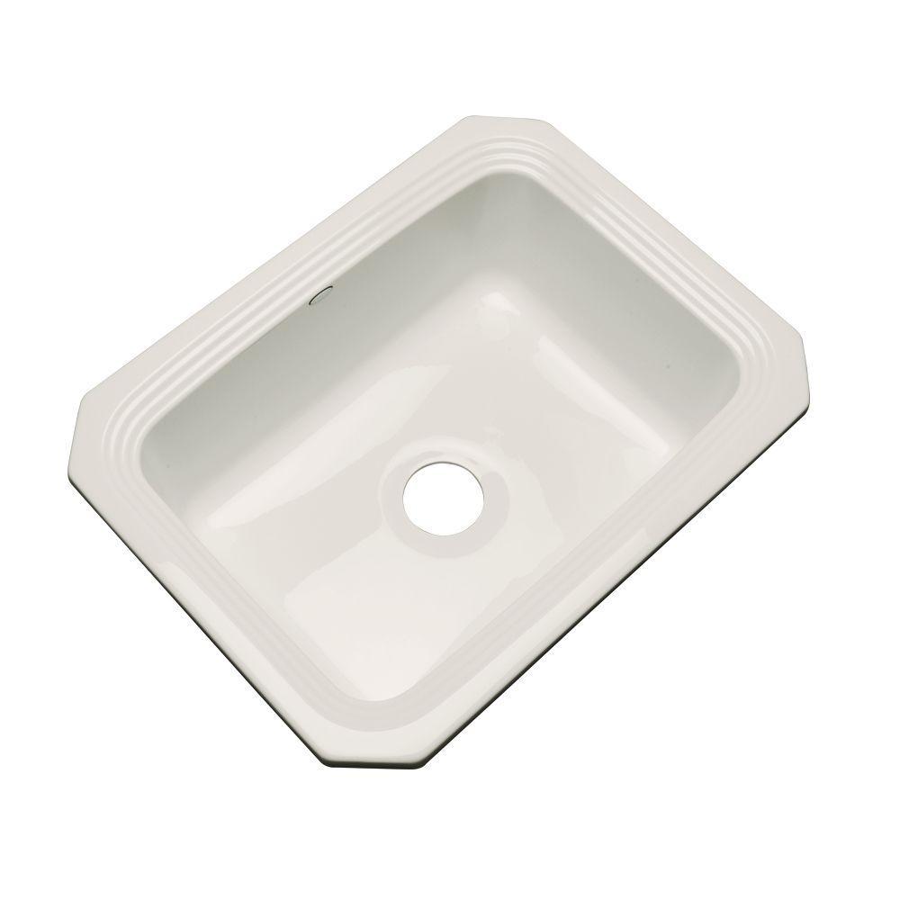 Rochester Undermount Acrylic 25 in. Single Bowl Kitchen Sink in Almond