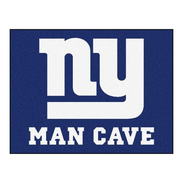 New York Giants Blue Man Cave 3 ft. x 4 ft. Area Rug