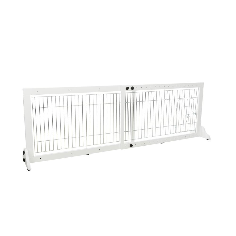 Trixie Wooden Freestanding Pet Gate With Pet Door 22 5 In
