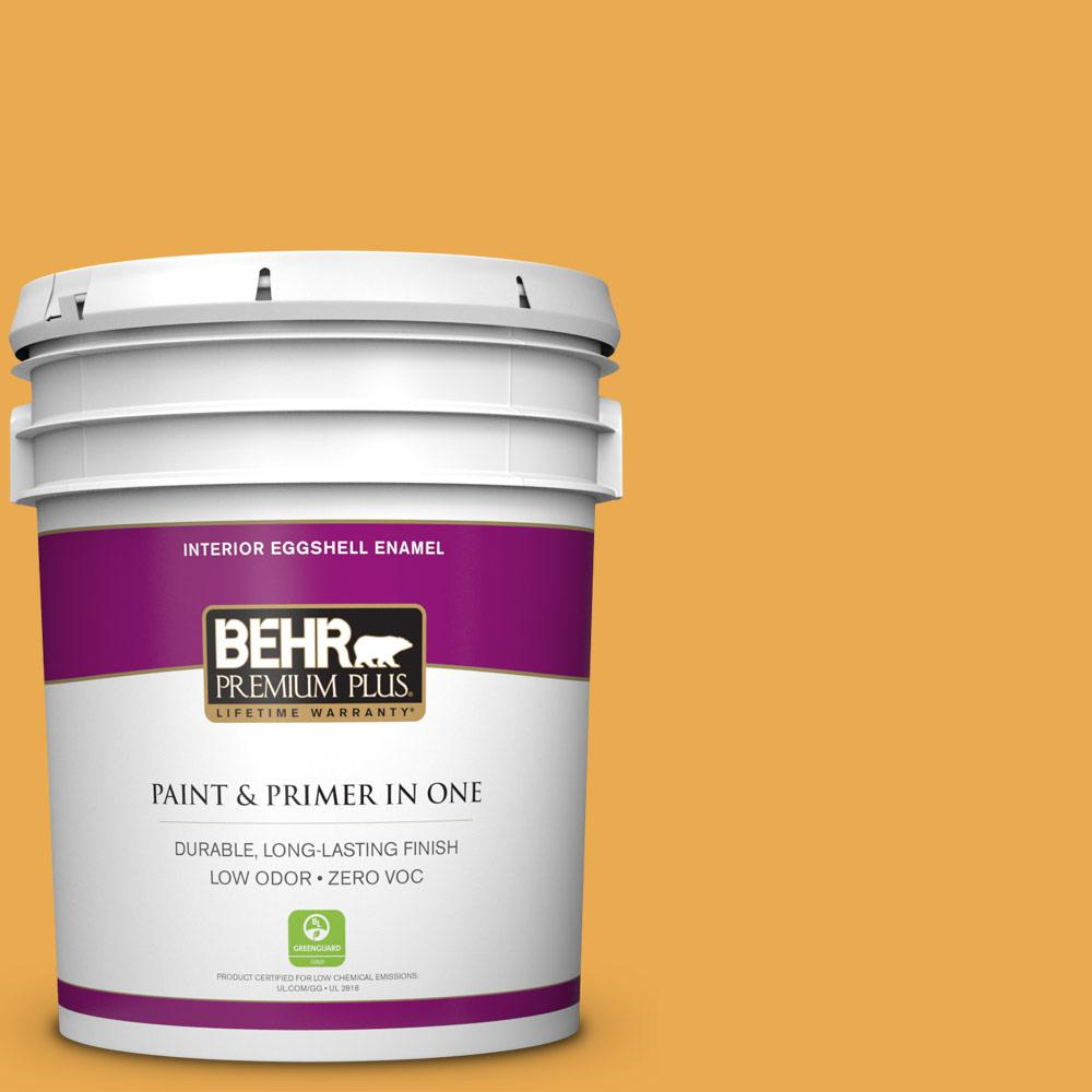 5 gal. #BIC-43 Optimist Gold Zero VOC Eggshell Enamel Interior Paint