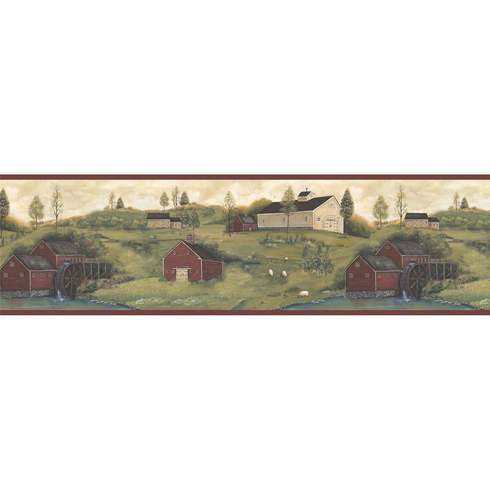 Leanne Nottingham Farms Wallpaper Border