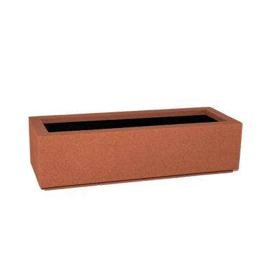 Riviera 46 in. x 12 in. Red Clay Trough Planter