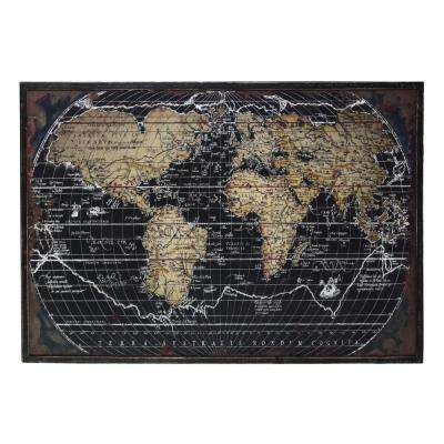 "31.50 in. x 48.25 in. ""World Atlas"" Printed Wall Art"