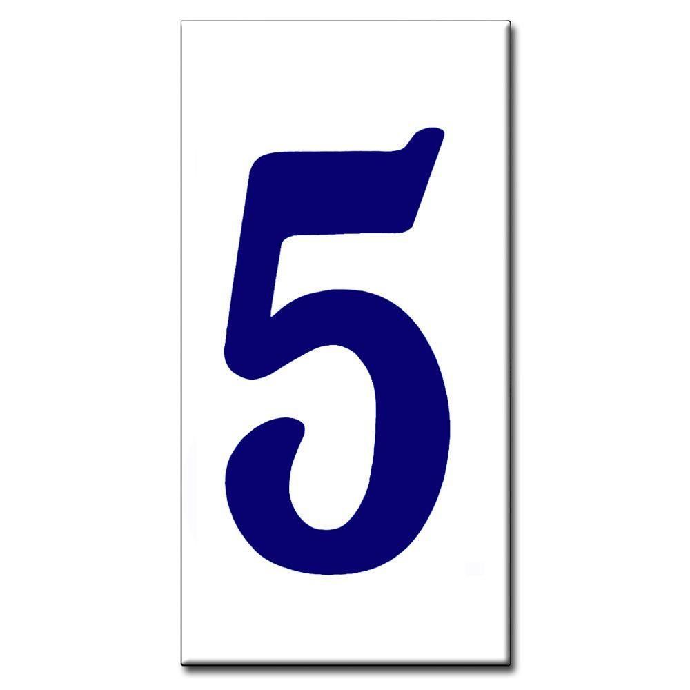 null 2 in. x 4 in. Blue Standard Number 5