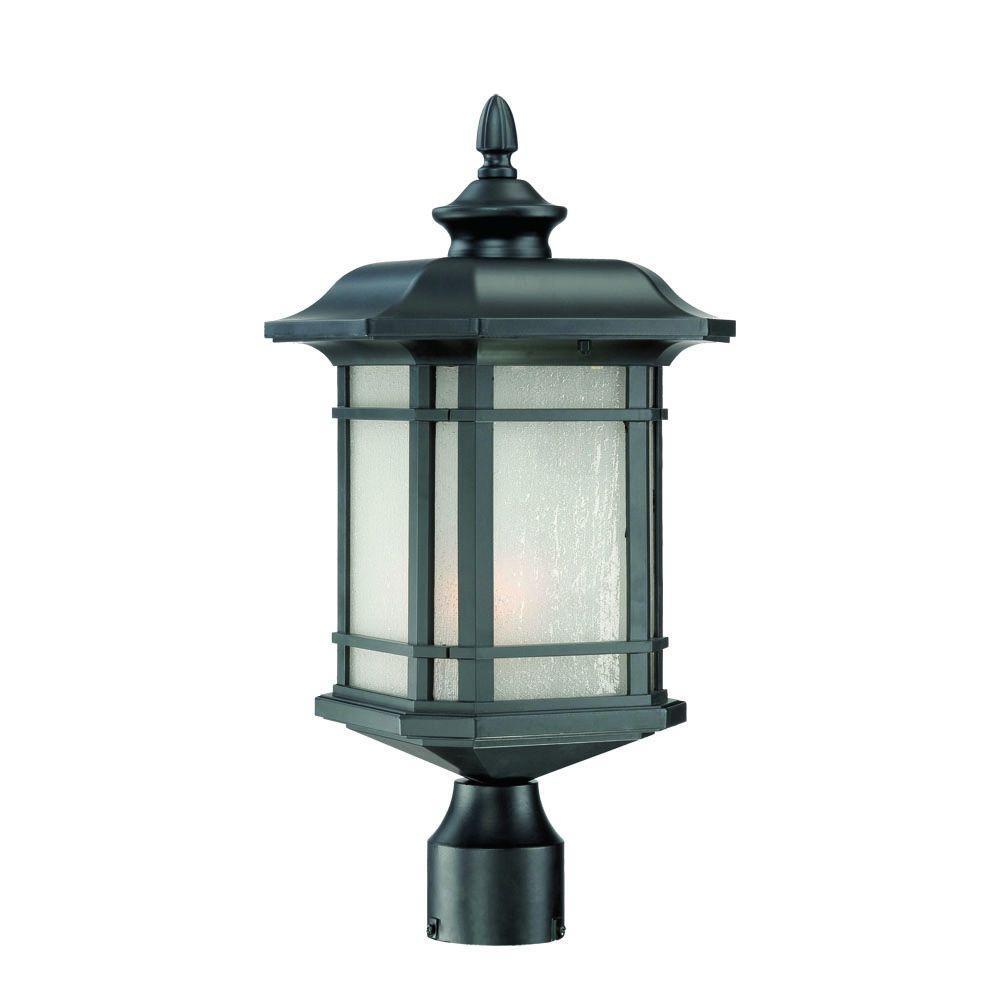 Acclaim Lighting Somerset 1 Light Matte Black Outdoor Post Mount Light  Fixture