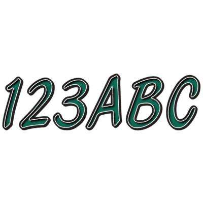 Series 400 Registration Kit, Smooth Cursive Font With Left to Right Color Gradation, Forest Green/Black