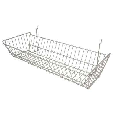 24 in. W x 10 in. D x 5 in. H Chrome Double Sloping Basket