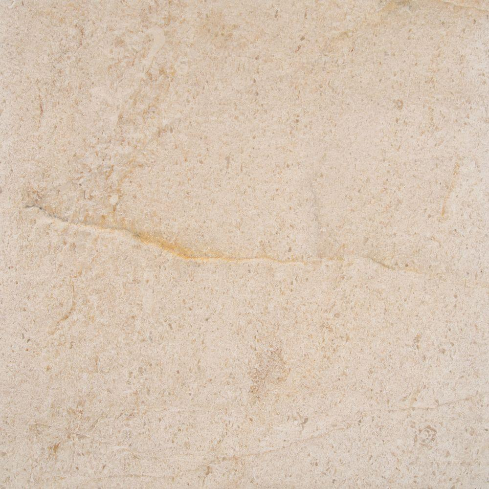 Coastal Sand 18 in. x 18 in. Honed Limestone Floor and
