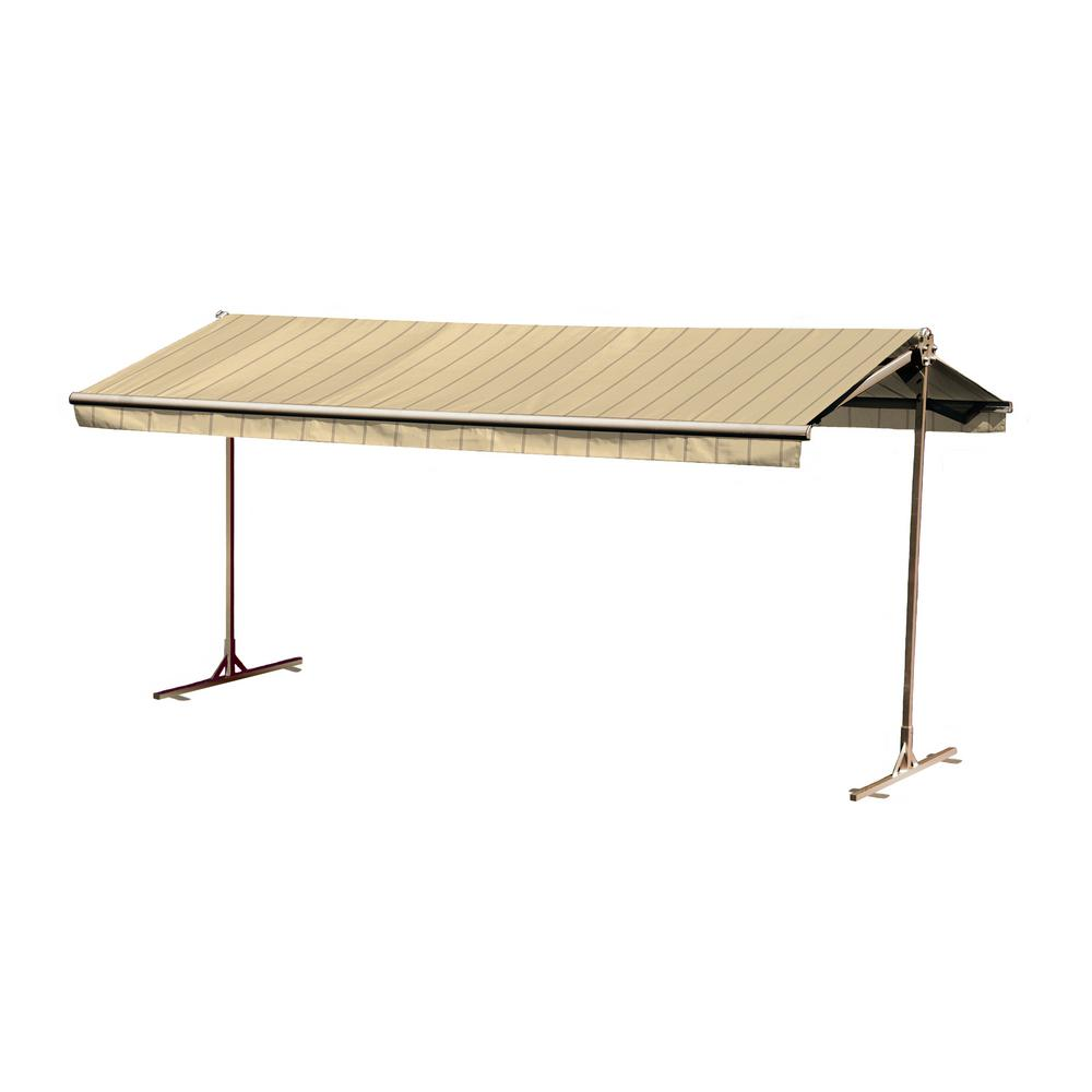 12 ft. Oasis Freestanding Manual Retractable Awning (120 in. Projection) in