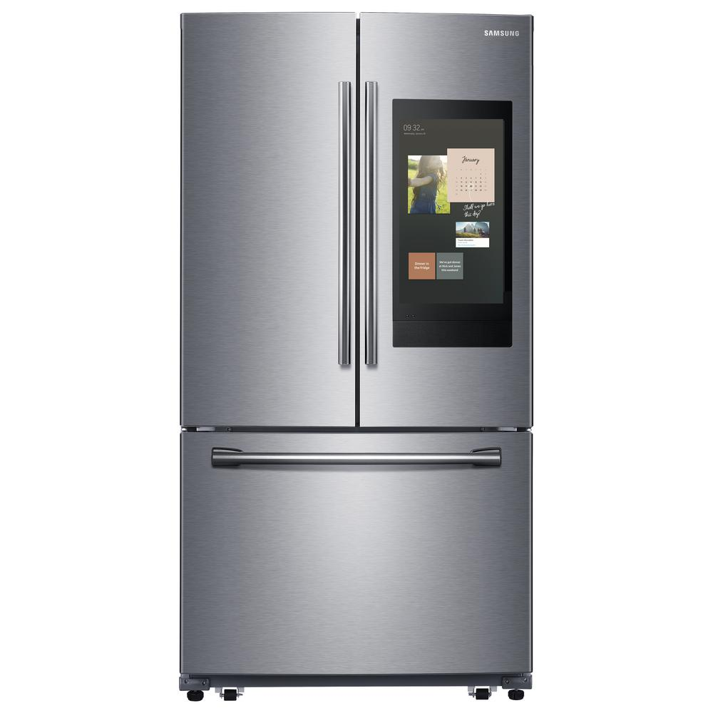 Samsung 24.2 cu. ft. Family Hub French Door Smart Refrigerator in Stainless Steel, Fingerprint Resistant Stainless Steel was $2699.0 now $1897.2 (30.0% off)