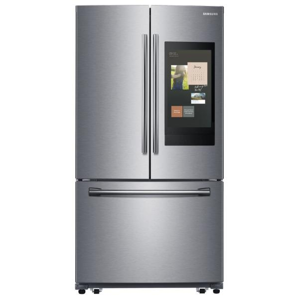 25.1 cu. ft. Family Hub French Door Smart Refrigerator in Stainless Steel