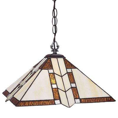 Lawrence 1-Light Antique Brass Incandescent Ceiling Pendant