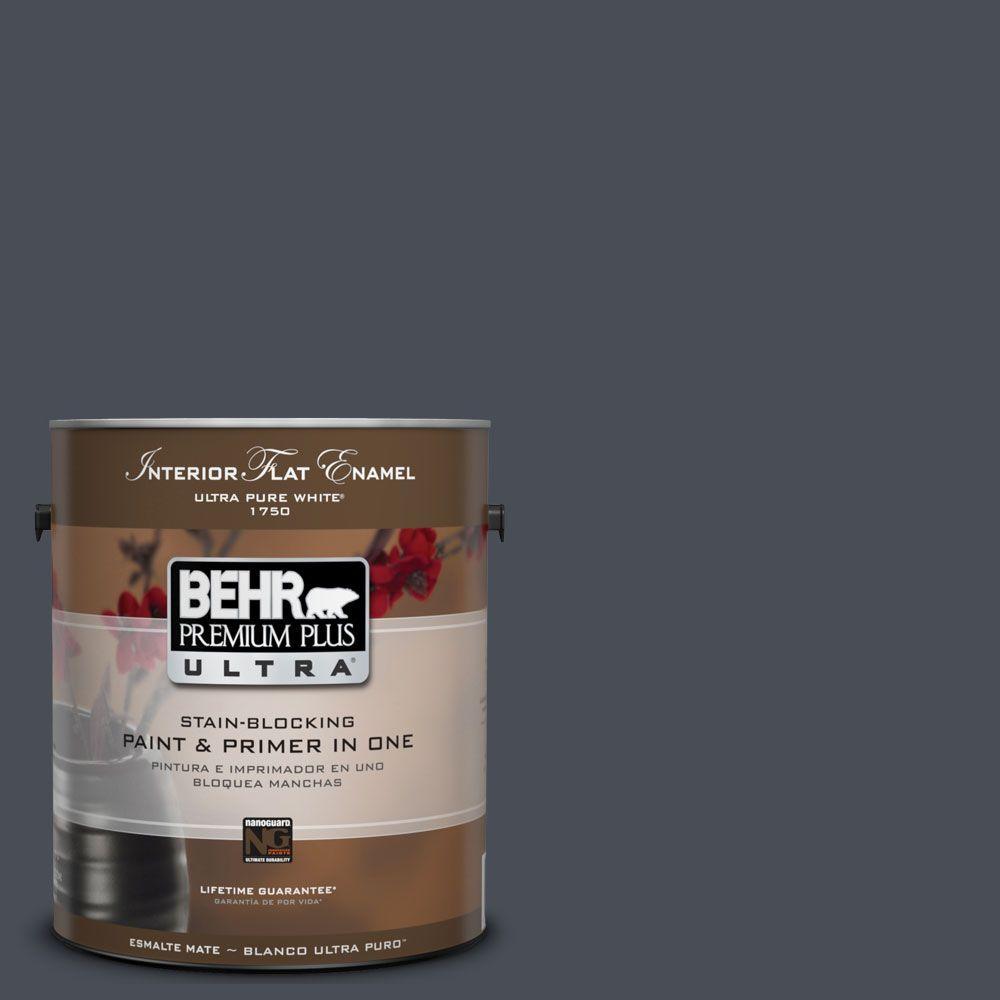 BEHR Premium Plus Ultra 1-Gal. #UL260-23 Poppy Seed Interior Flat Enamel Paint