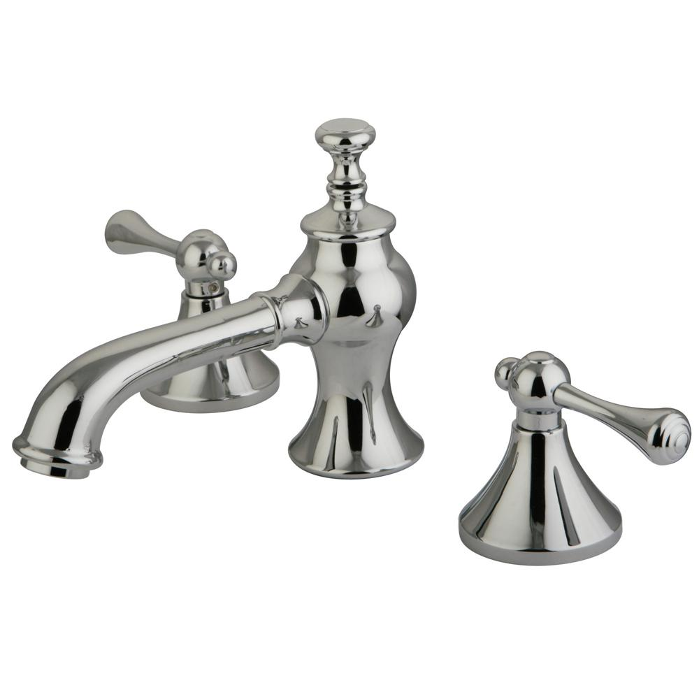 Kingston Brass English Lever 8 In Widespread 2 Handle Mid Arc Bathroom Faucet In Chrome