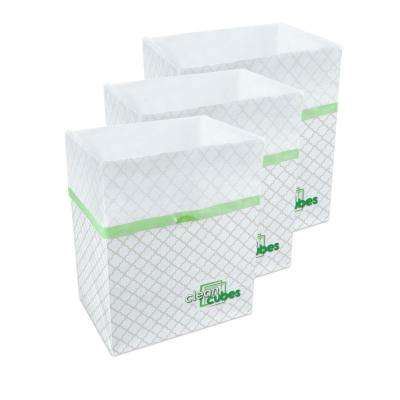 10 gal. Trellis Pattern Trash Can and Recycling Bin (3-Pack)